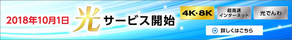 2018年10月1日光サービス開始